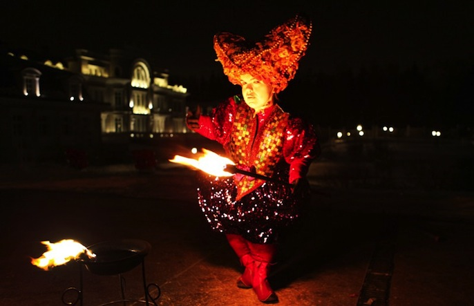карнавал Венеция марки святые города девушки площади ночью проводится танцы